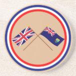 Reino Unido y banderas cruzadas Santa Helena Posavaso Para Bebida