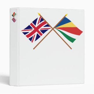 """Reino Unido y banderas cruzadas Seychelles Carpeta 1"""""""