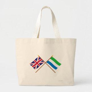 Reino Unido y banderas cruzadas Sierra Leone Bolsa