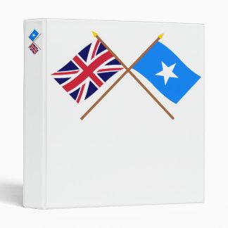 """Reino Unido y banderas cruzadas Somalia Carpeta 1"""""""