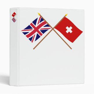 """Reino Unido y banderas cruzadas Suiza Carpeta 1"""""""