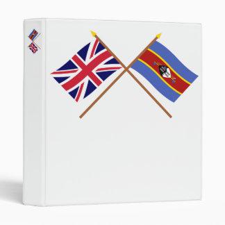 """Reino Unido y banderas cruzadas Swazilandia Carpeta 1"""""""