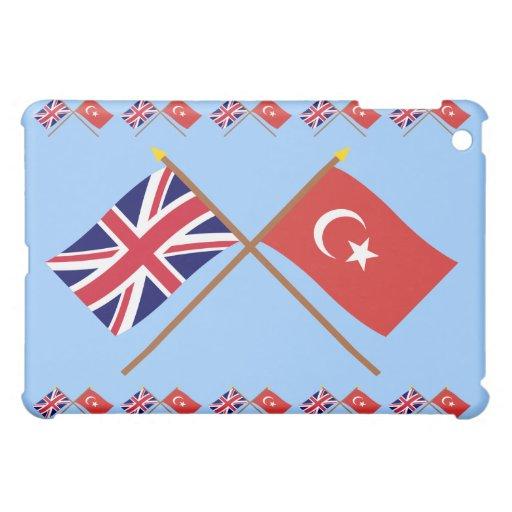 Reino Unido y banderas cruzadas Turquía