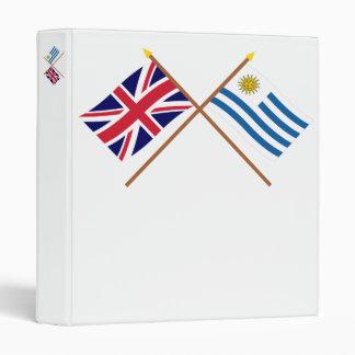 Reino Unido y banderas cruzadas Uruguay