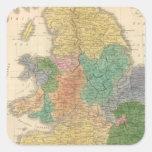 Reinos de los anglosajones colcomanias cuadradas personalizadas