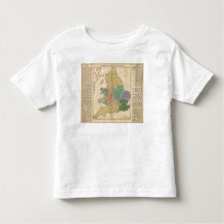 Reinos de los anglosajones playera de bebé