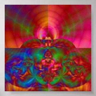 Reinos místicos rojos posters