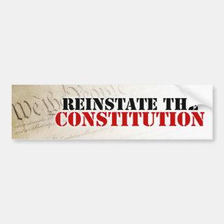 Reinstate the Constitution Bumper Sticker