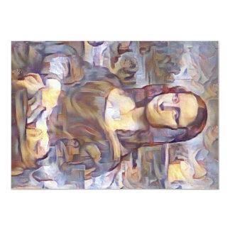 """Reinterpretación del Poste-Impresionista de Mona Invitación 5"""" X 7"""""""