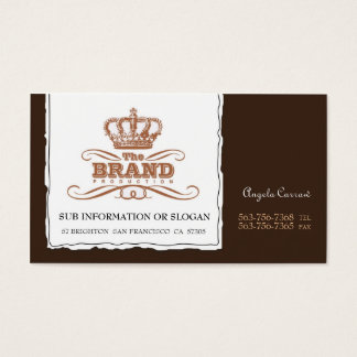 Reinvention Brown Business Cards