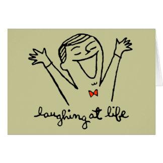 Reírse de vida tarjeta de felicitación