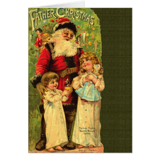 Reissue Victorian Father Christmas Card