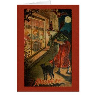 Reissue Victorian Witch Halloween Card