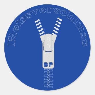 Reissverschluss Classic Round Sticker