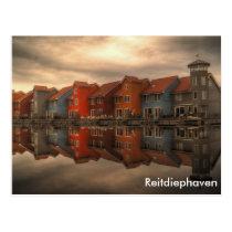 Reitdiephaven, Groningen, Netherlands Postcard