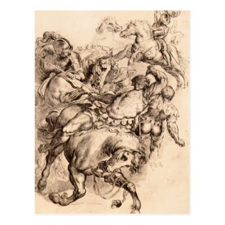 Reiter battle by Paul Rubens Postcard