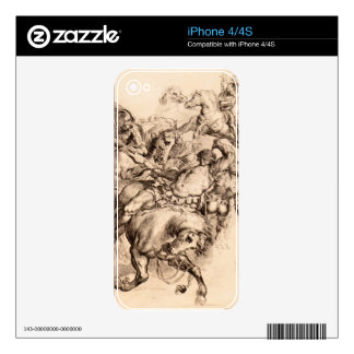 Reiter battle by Paul Rubens Skin For iPhone 4S