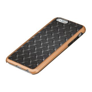 Reja de acero de la parrilla del metal funda para iPhone 6 plus incipio feather shine