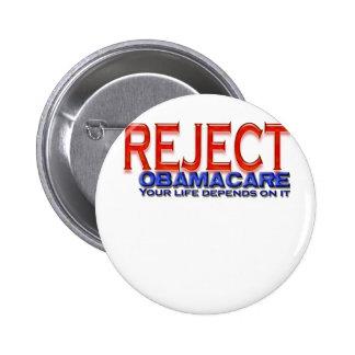 Reject Obama Anti-Obama Designs Button