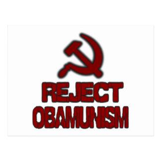 Reject Obamunism Postcard
