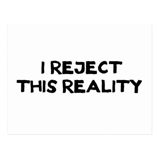 Reject Reality Postcard