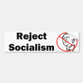 Reject Socialism Bumpersticker Bumper Sticker