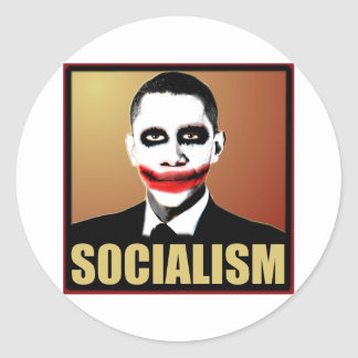 Reject Socialism Classic Round Sticker
