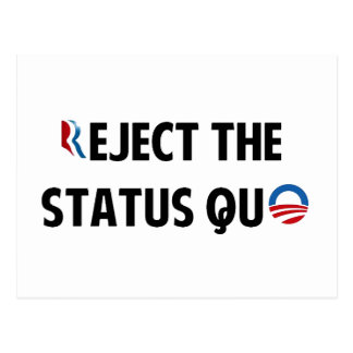 Reject the Status Quo Postcard