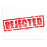 Rejected rubber stamp image post card