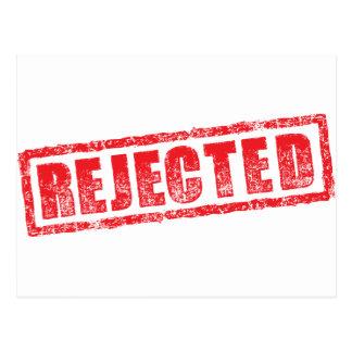 Rejected rubber stamp image postcard