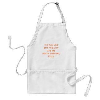 rejection adult apron