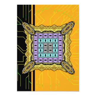 """Rejilla 2 del RGB de las medusas invertida Invitación 5"""" X 7"""""""