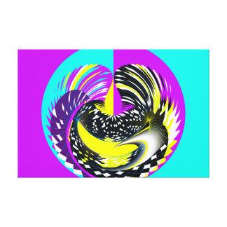 Rejilla abstracta en círculo impresion de lienzo