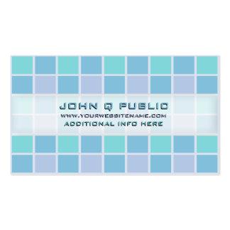 Rejilla azul del mosaico tarjetas de visita