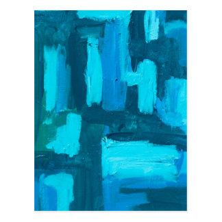 Rejilla azul tarjetas postales