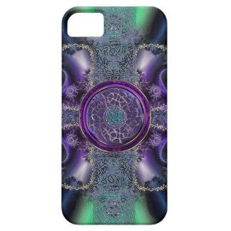 Rejilla céltica metálica del fractal iPhone 5 Case-Mate carcasas