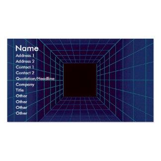 Rejilla cuadrada azul del túnel plantillas de tarjetas de visita