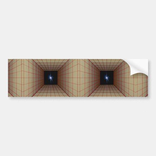 Rejilla cuadrada del túnel con la estrella etiqueta de parachoque