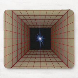Rejilla cuadrada del túnel con la estrella alfombrillas de ratón
