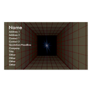 Rejilla cuadrada del túnel con la estrella tarjetas de visita