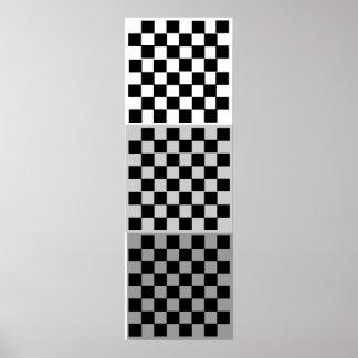 rejilla de la ETIQUETA del ajedrez 3D (8x8x3) Póster