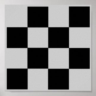 rejilla de la ETIQUETA del ajedrez del dedo del Póster