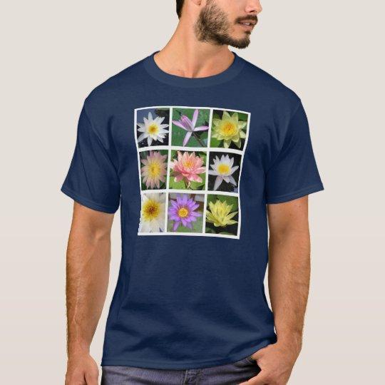 Rejilla de la flor de Waterlily Playera