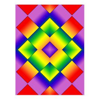 Rejilla del arco iris tarjetas postales