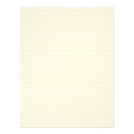 Rejilla del gráfico del amarillo 0551099 membretes personalizados