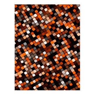 Rejilla del pixel tarjeta postal