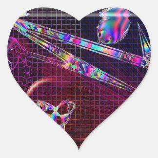 Rejilla del vidrio del arte del filón del diseño colcomanias de corazon