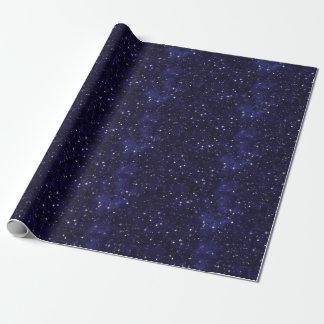 Rejilla estrellada del cielo nocturno papel de regalo