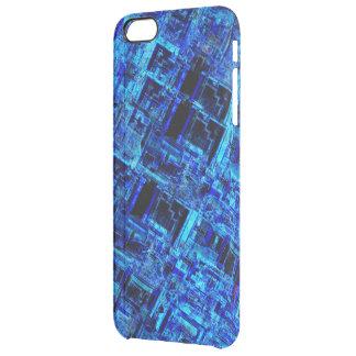Rejilla extranjera azul del metal del espacio funda clearly™ deflector para iPhone 6 plus de unc