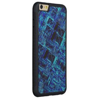 Rejilla extranjera azul del metal del espacio funda de arce bumper carved® para iPhone 6 plus